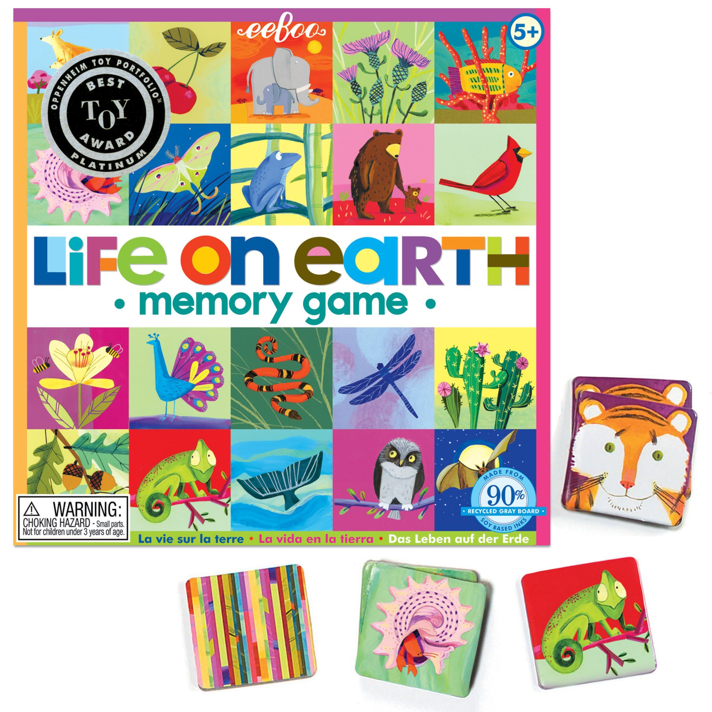 Amazon.com: Eeboo Life on Earth Matching Game: Toys & Games