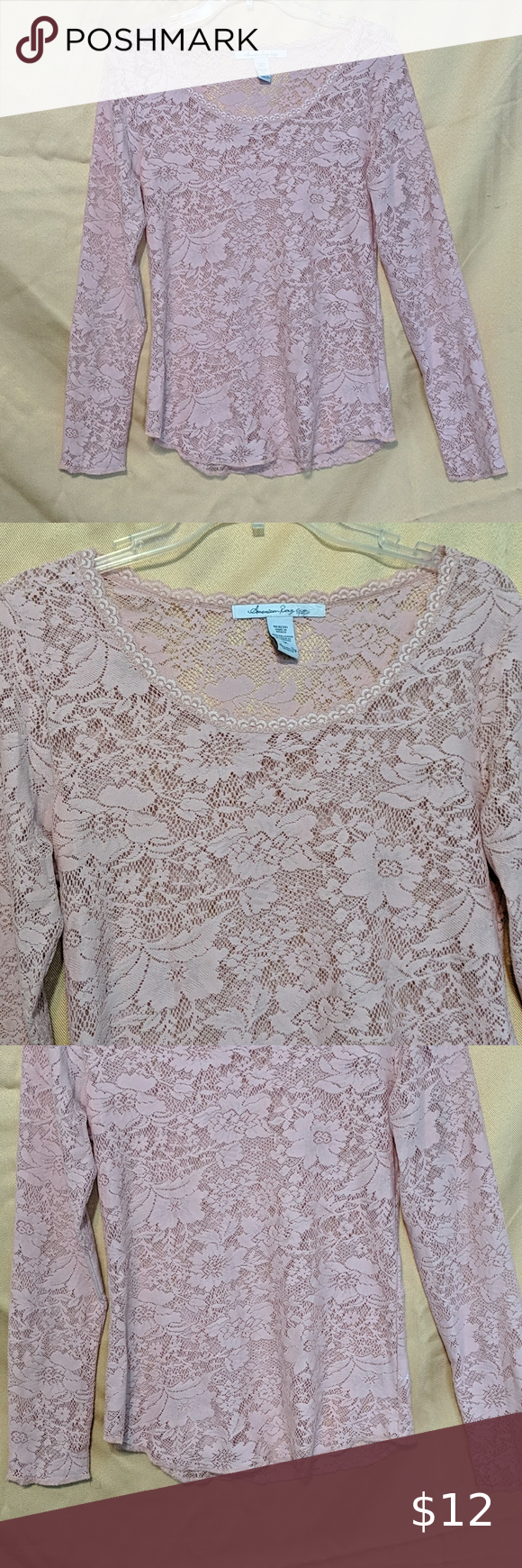 Long sleeve lace top Long sleeve lace top Dusty Ro