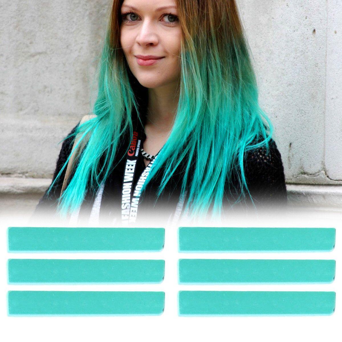 6 Best Temporary Mint Teal hair Dye for dark and light hair - Set ...