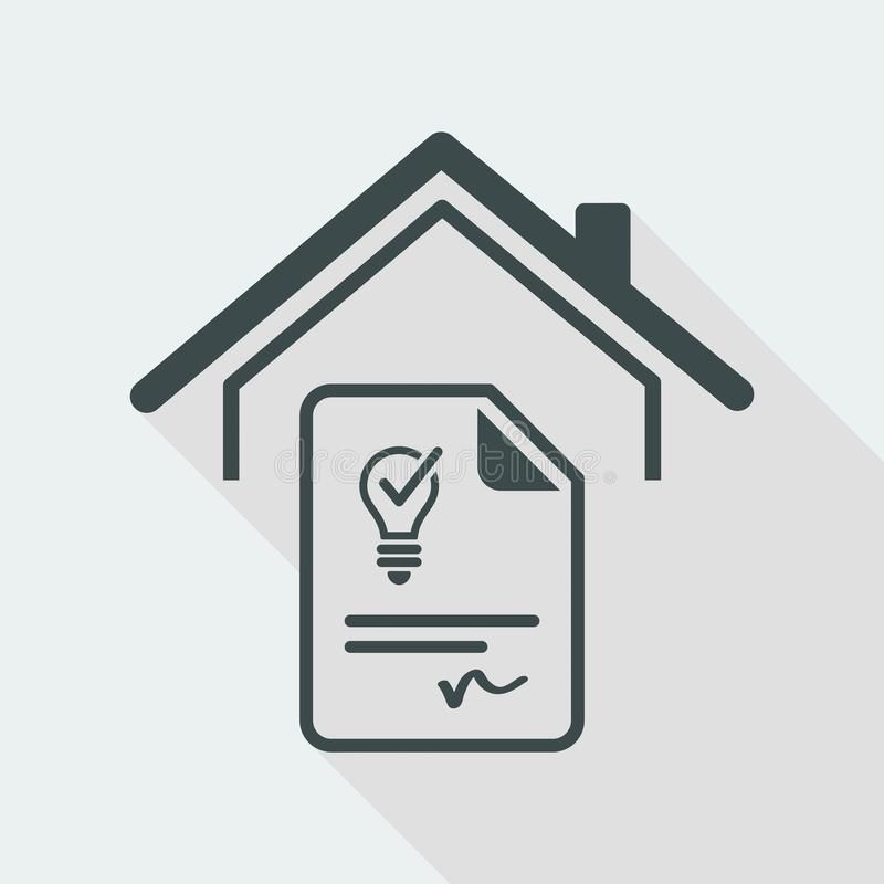 Agreement For The Supply Of Electricity Vector Web Icon Flat And Isolated Vec Sponsored Web Icon Flat Web Icons Brochure Design Inspiration Vector