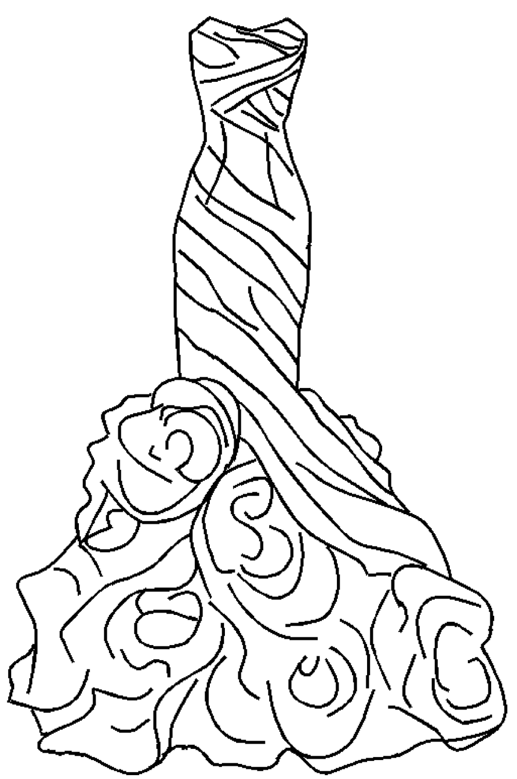 Dress of roses templates pinterest embroidery coloring pages