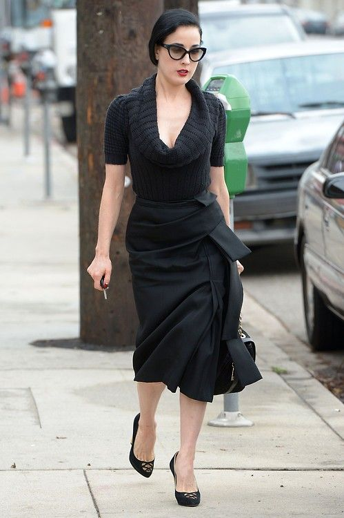 Dita Von Teese out in West Hollywood