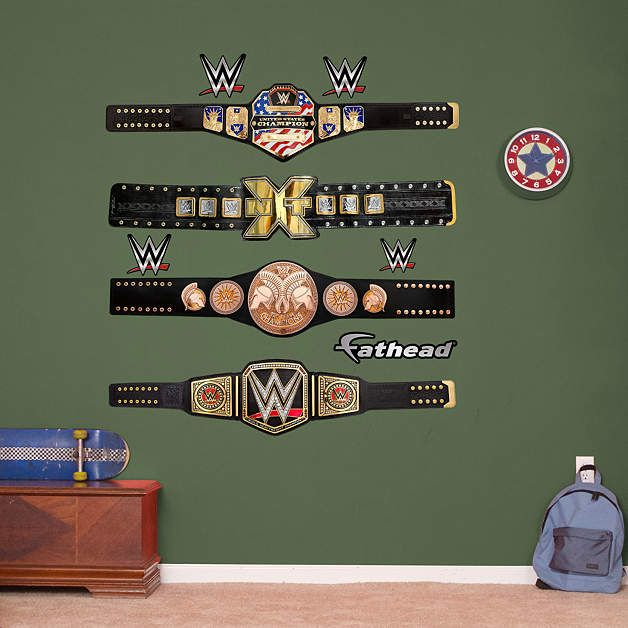 Wwe Title Belts Collection Wwe Wrestling Kid Room Decor Wwe Bedroom Bedroom Design Diy