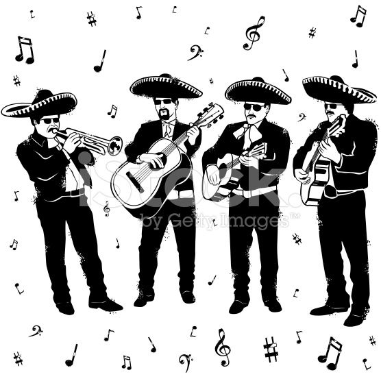 Mariachi Black And White Illustration Google Search Black And White Illustration Mariachi Mariachi Band