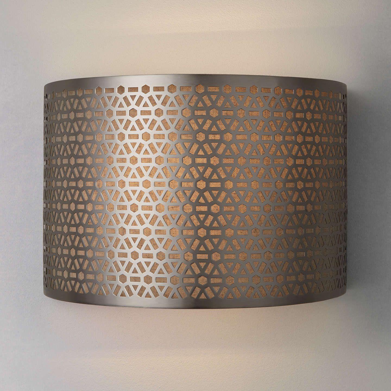 Buyjohn Lewis Meena Wall Light Steel Online At Johnlewis Com Wandlampe Lampen