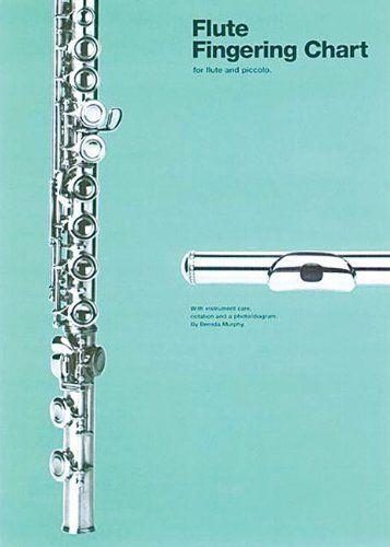 Flute Fingering Chart (Amsco Fingering Charts) by Brenda Murphy - flute fingering chart