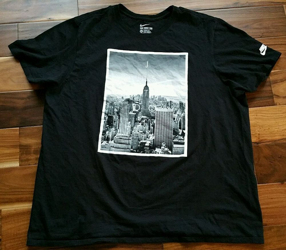 e7a1c614c Nike Just Do It T-Shirt New York City Empire State Building Men's XXL 2XL  black #Nike #GraphicTee