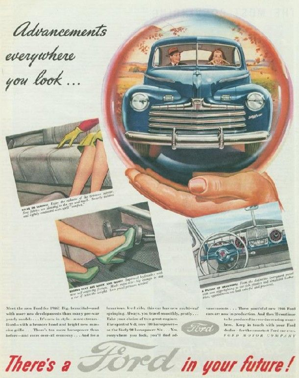 1945 Ford Ad There S A Ford In Your Future Retro Cars Old