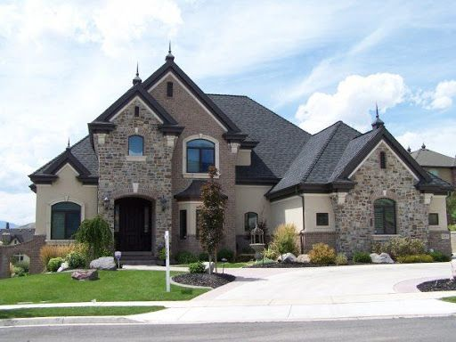 Suburban Chateau French Country Homes In Oklahoma French Country House House With Porch House Designs Exterior