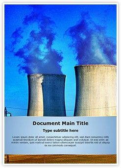 Nuclear Power Plant Word Document Template is one of the