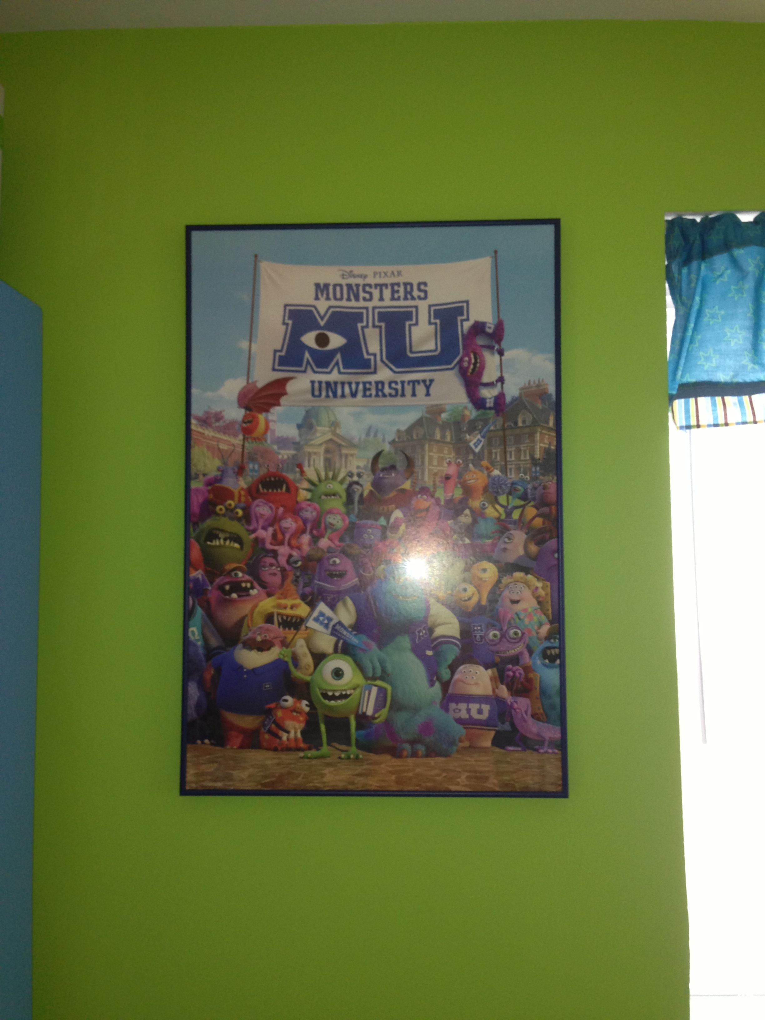 Cheap poster custom frame for nice touch in nursery