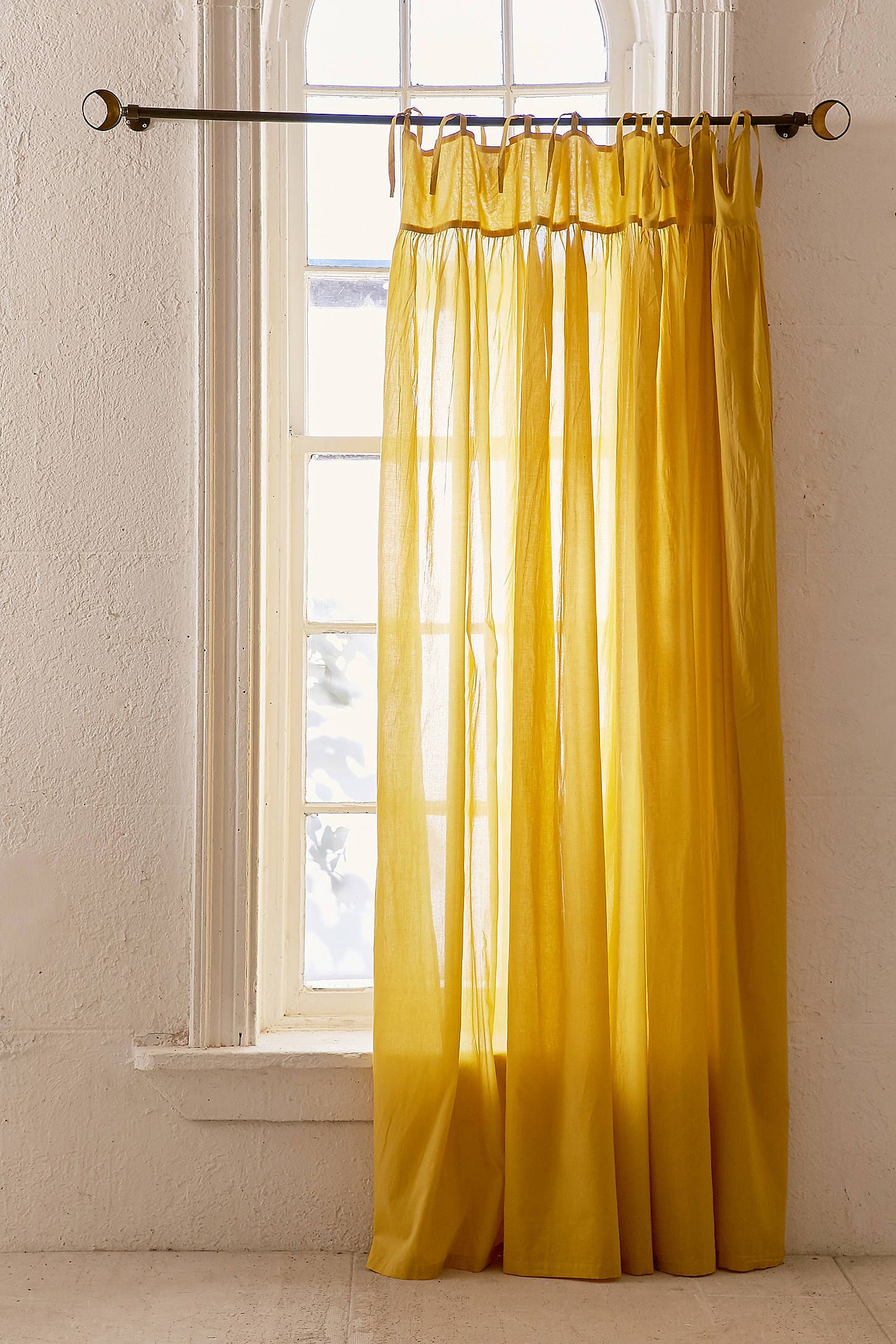 Gathered curtains - Shop The Plum Bow Gathered Voile Curtain And More Urban Outfitters At Urban Outfitters