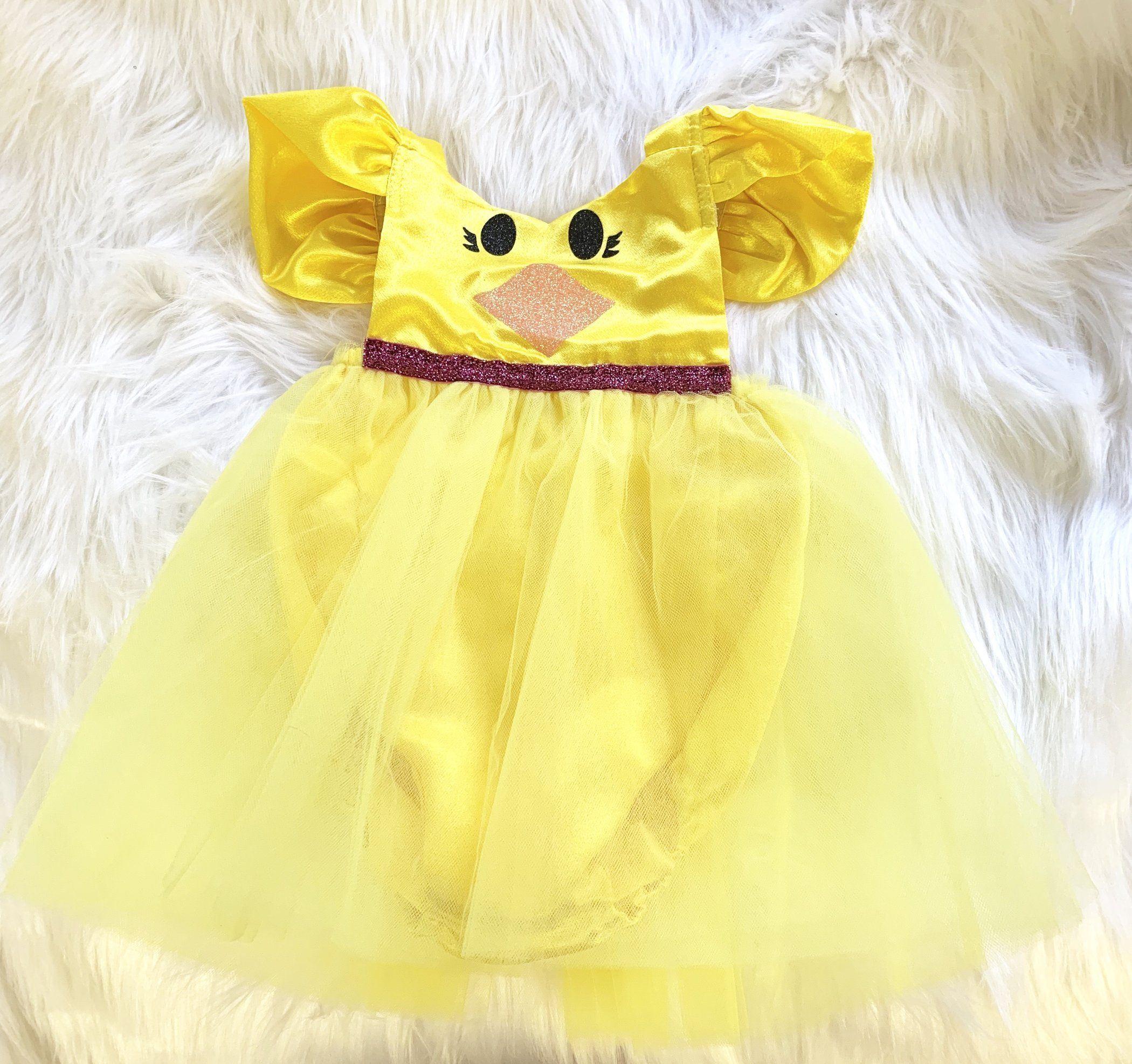 fa9daca7324 Pretty Little Peep Baby Chicks Peep Sparkle Tutu Romper handmade by  designer Belle Threads