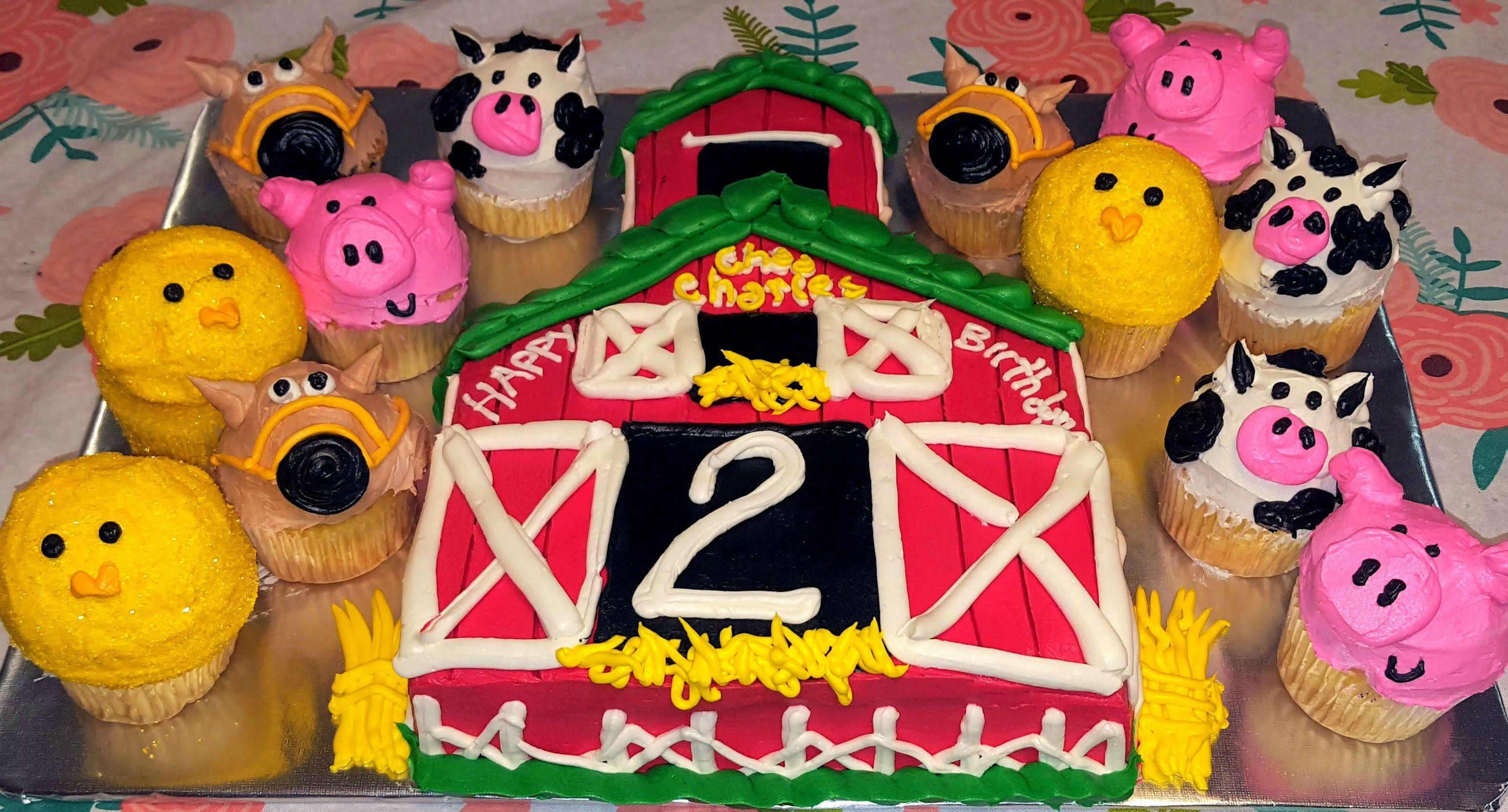Farm house birthday cake countrybaking menwhobake moo