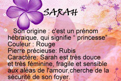 L La Signification De Mon Prénom Sarah L Prenom