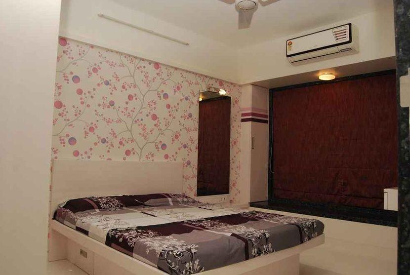 Residence At Kandiwali Mumbai By Nupur Jain Interior Designer In Mumbai Maharashtra India Wallpaper Design For Bedroom Kids Bedroom Designs Bedroom Design