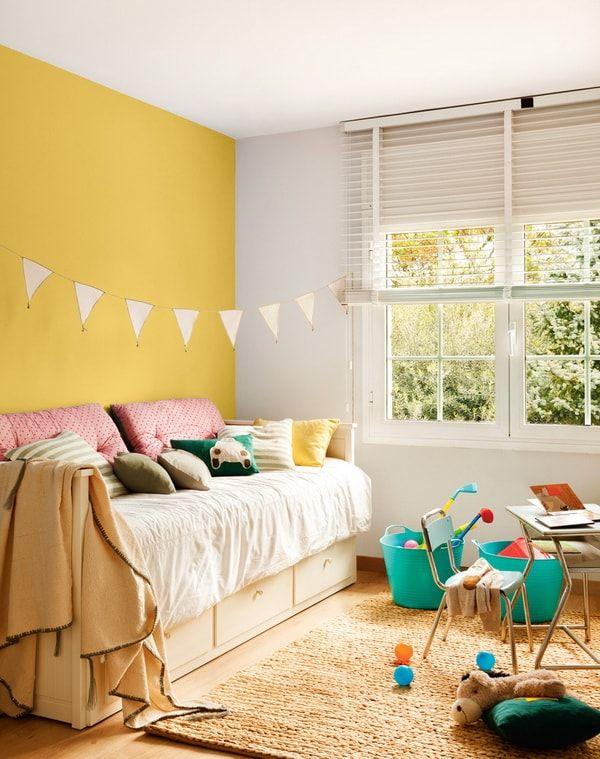 Pared Pintada De Color Diferente Tips Para Pintar Y Remodelar La - Colores-para-habitacion-infantil
