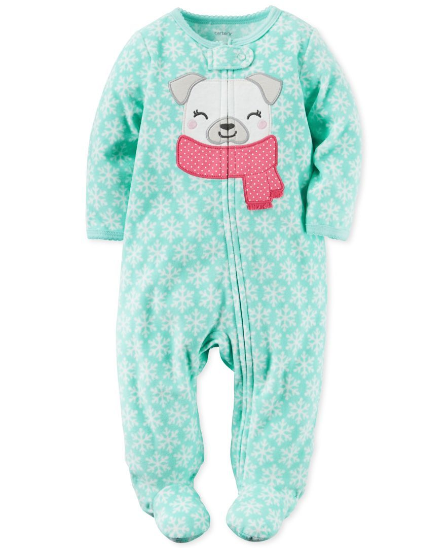 24c09bd74 Carter s 1-Pc. Snowflake-Print Dog Footed Coverall
