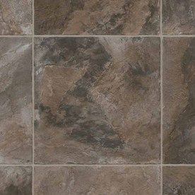 Ivc 13 Ft 2 In W Ivc Inspire Colorado Dark 943 Tile Low Gloss Finish Sheet Vinyl Vinyl Sheet Flooring Flooring Vinyl Flooring
