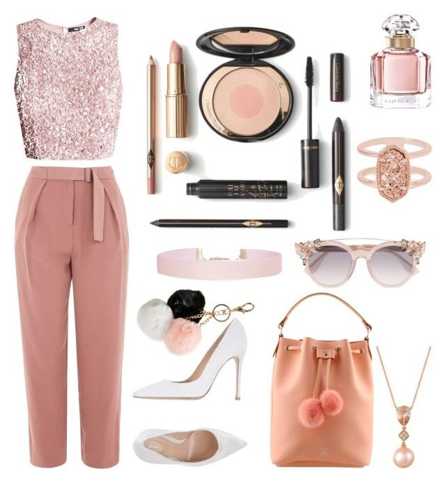 """""""-🌆🌆🌆-"""" by grereta ❤ liked on Polyvore featuring Topshop, Gianvito Rossi, LE VIAN, Guerlain, Kendra Scott, Humble Chic, Jimmy Choo and GUESS"""