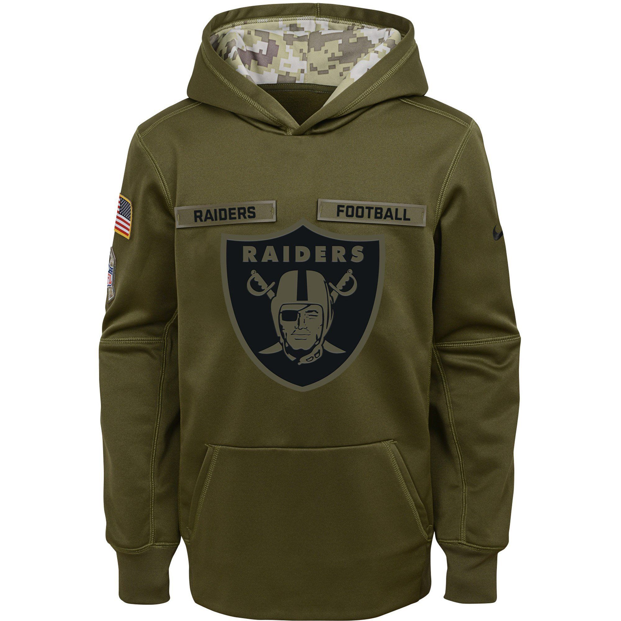 Men's Oakland Raiders Nike Green Salute