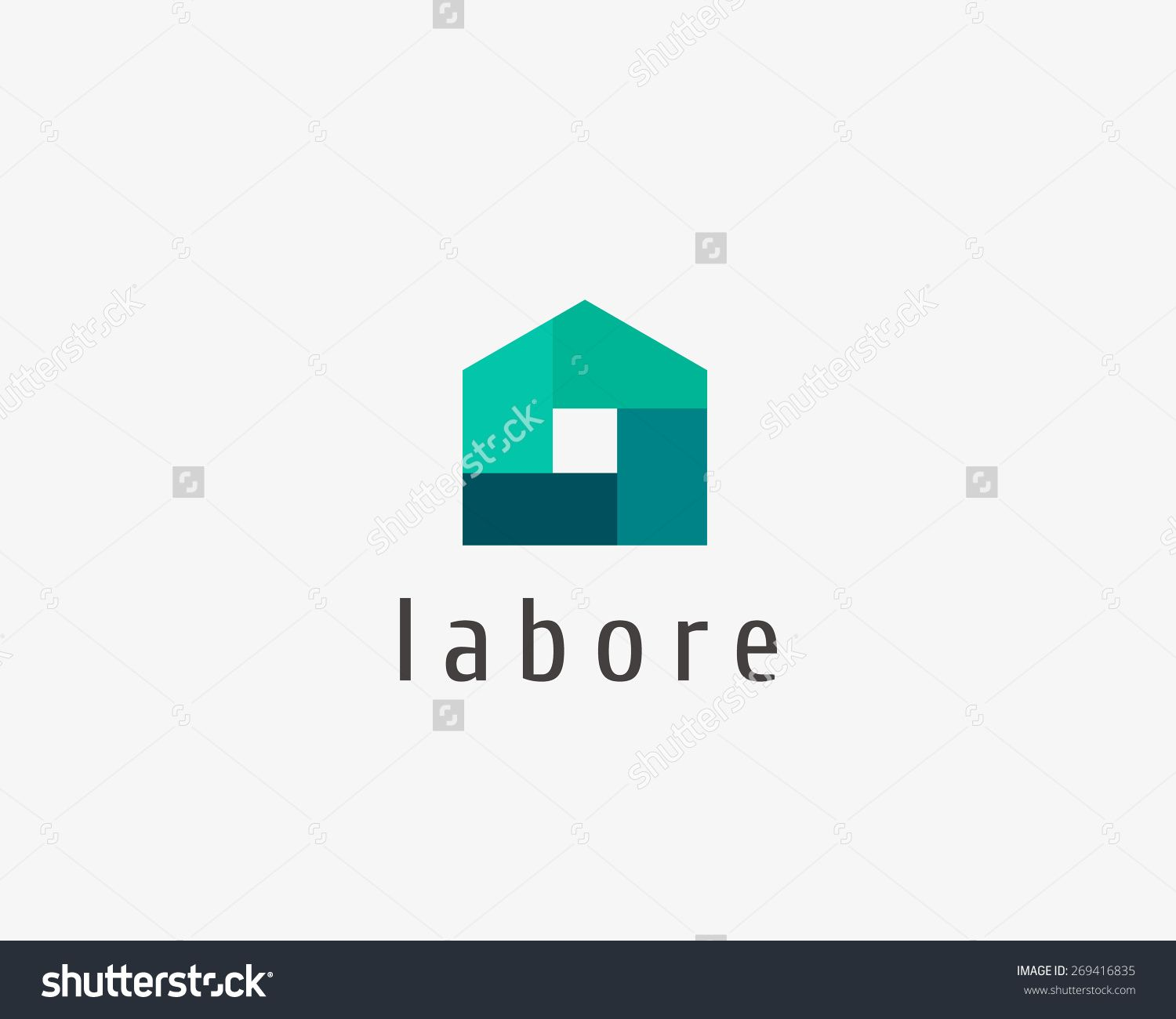 Abstract House Logo Design Template. Colorful Sign. Universal Vector ...
