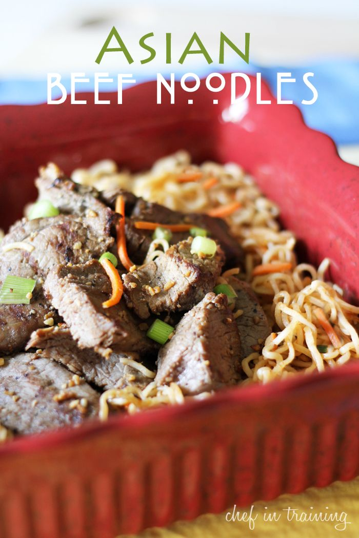 Asian Beef Noodles – Chef in Training