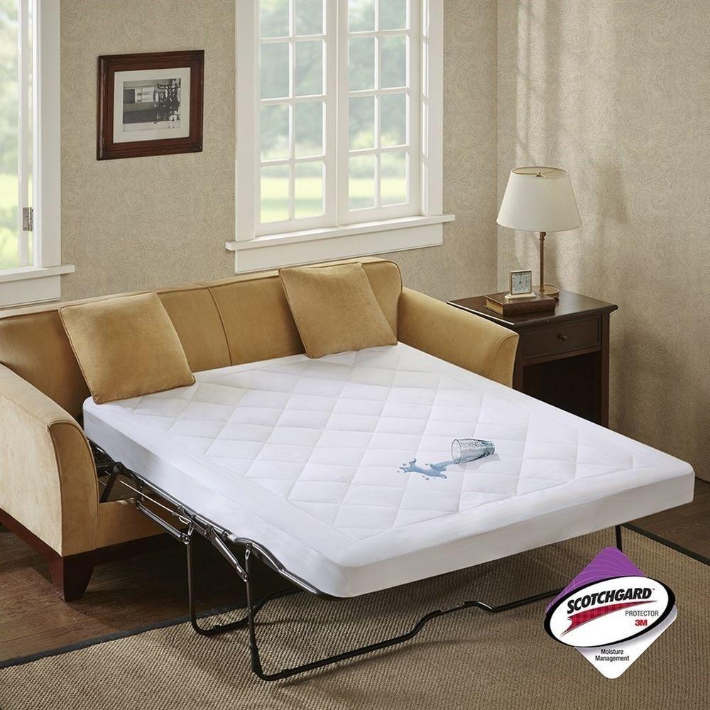 Luxury White Microfiber WATERPROOF Sofa Bed Mattress Pad