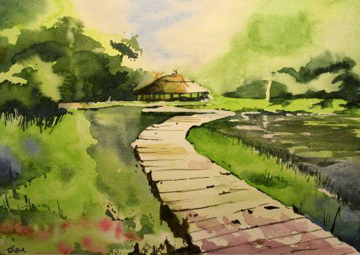 Peace - Watercolor on Paper - 22 x 30 cm
