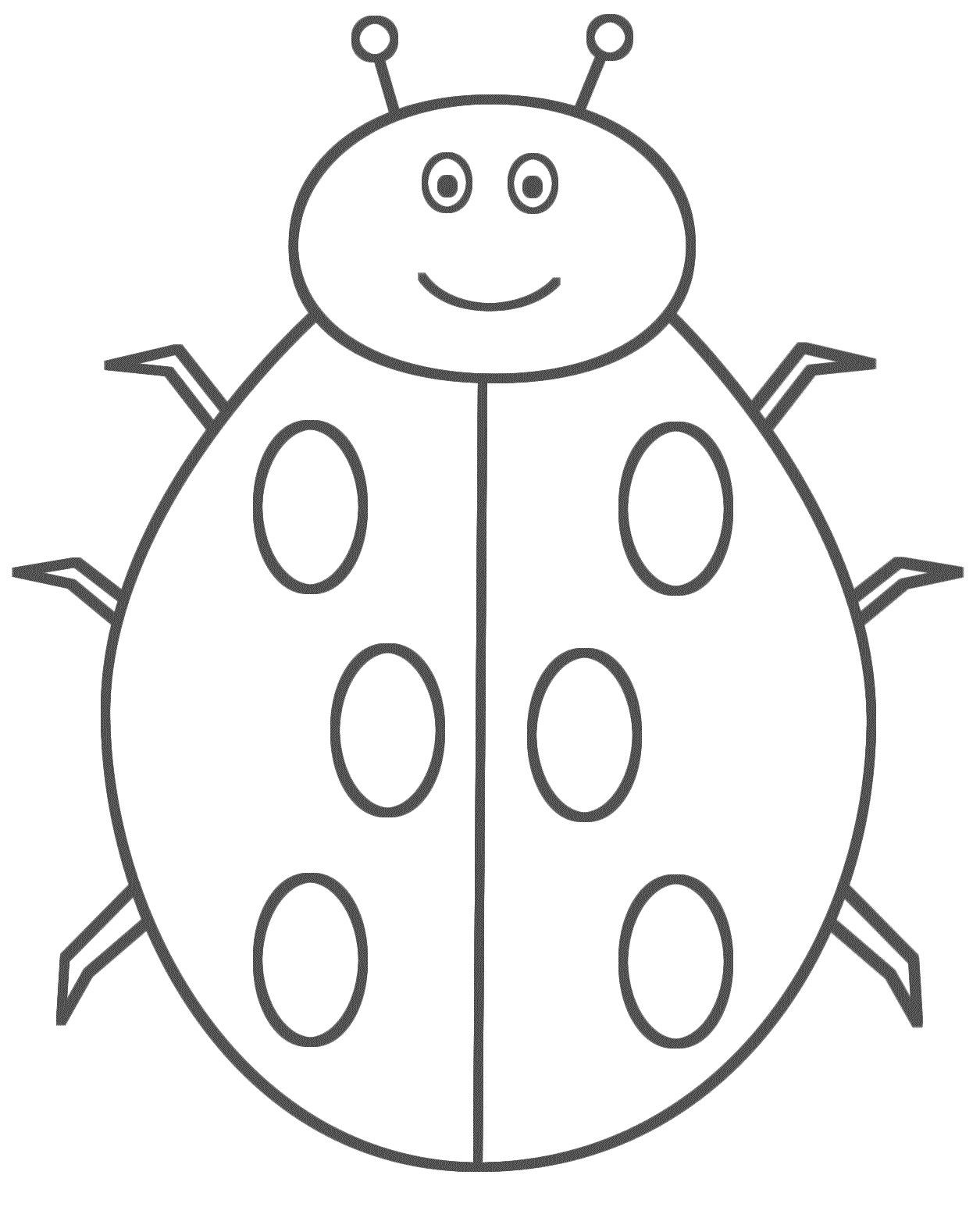 incridible bug coloring pages ladybug coloring pages animals - Colouring Activities For Toddlers