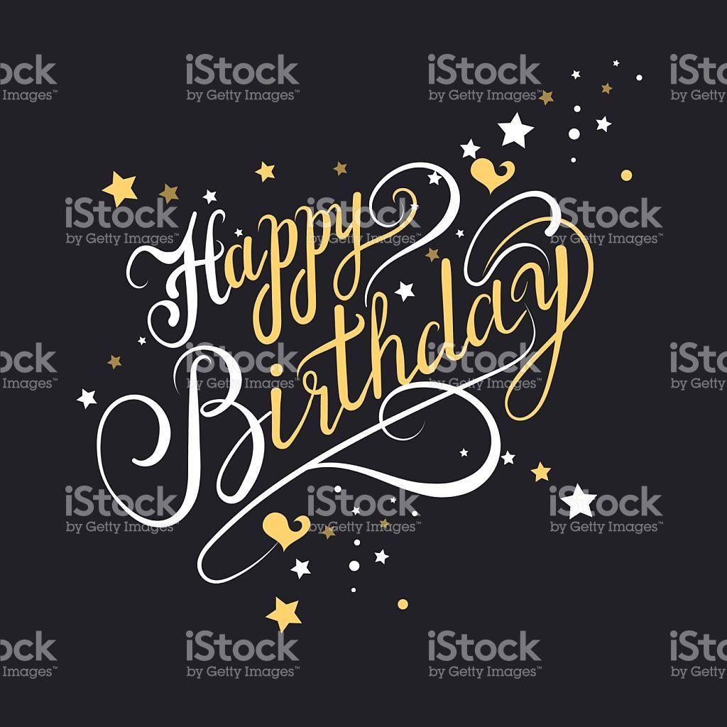 Happy Birthday Greeting Card Template Vector Pinterest