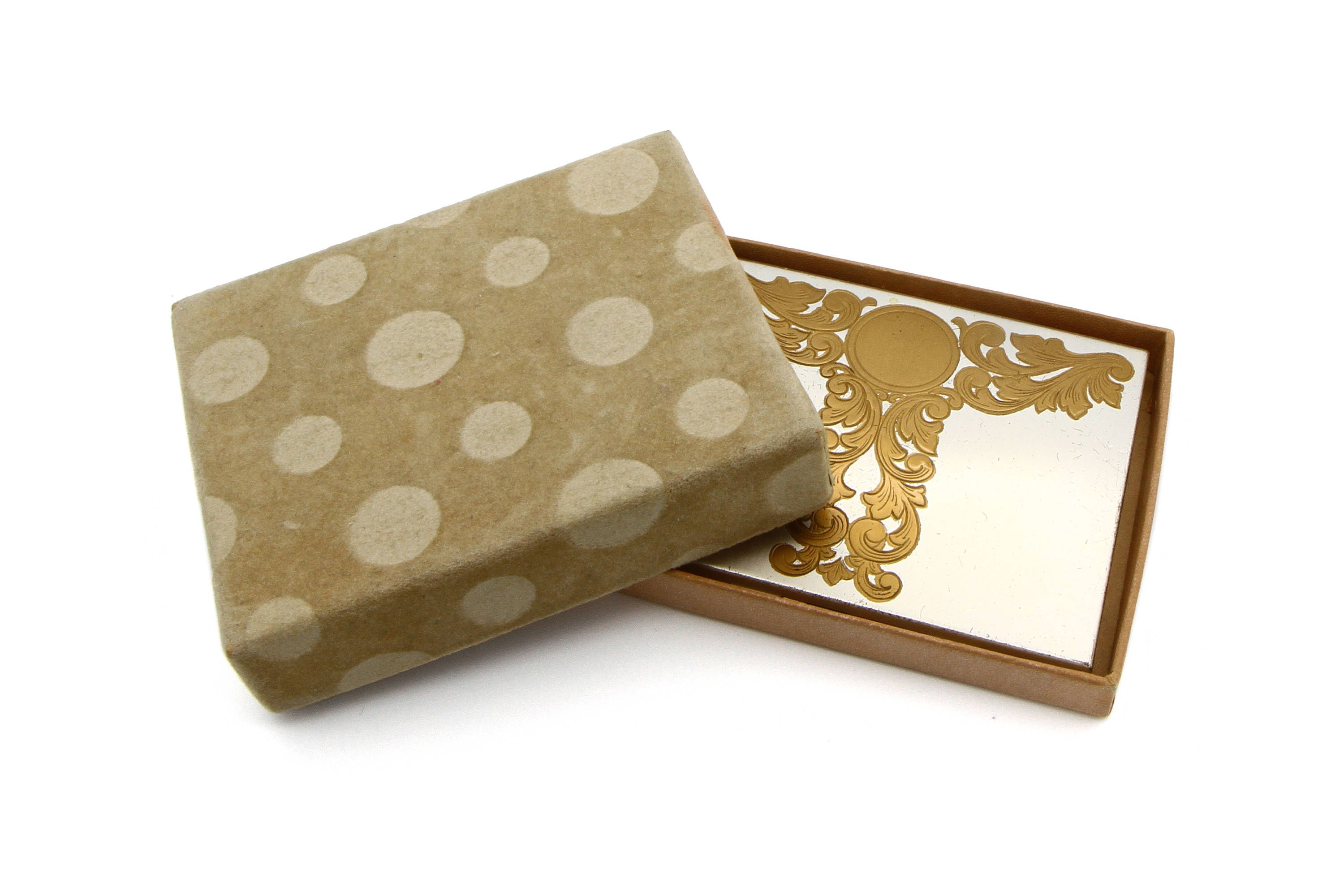 Metal Cigarette Case, Two Tone Gold Silver, Business Card Holder ...