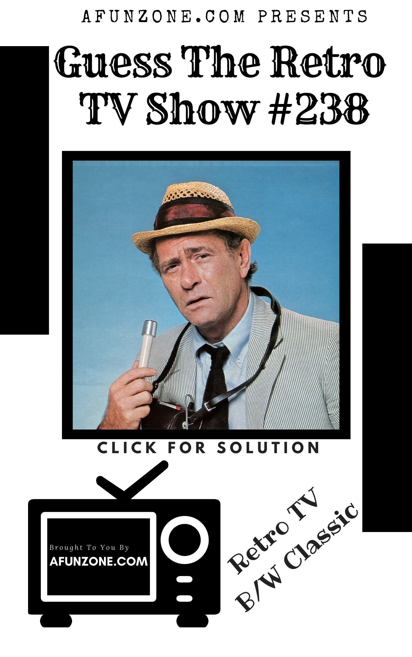 Afunzone Tv Vintage Television Retro Classic Black White