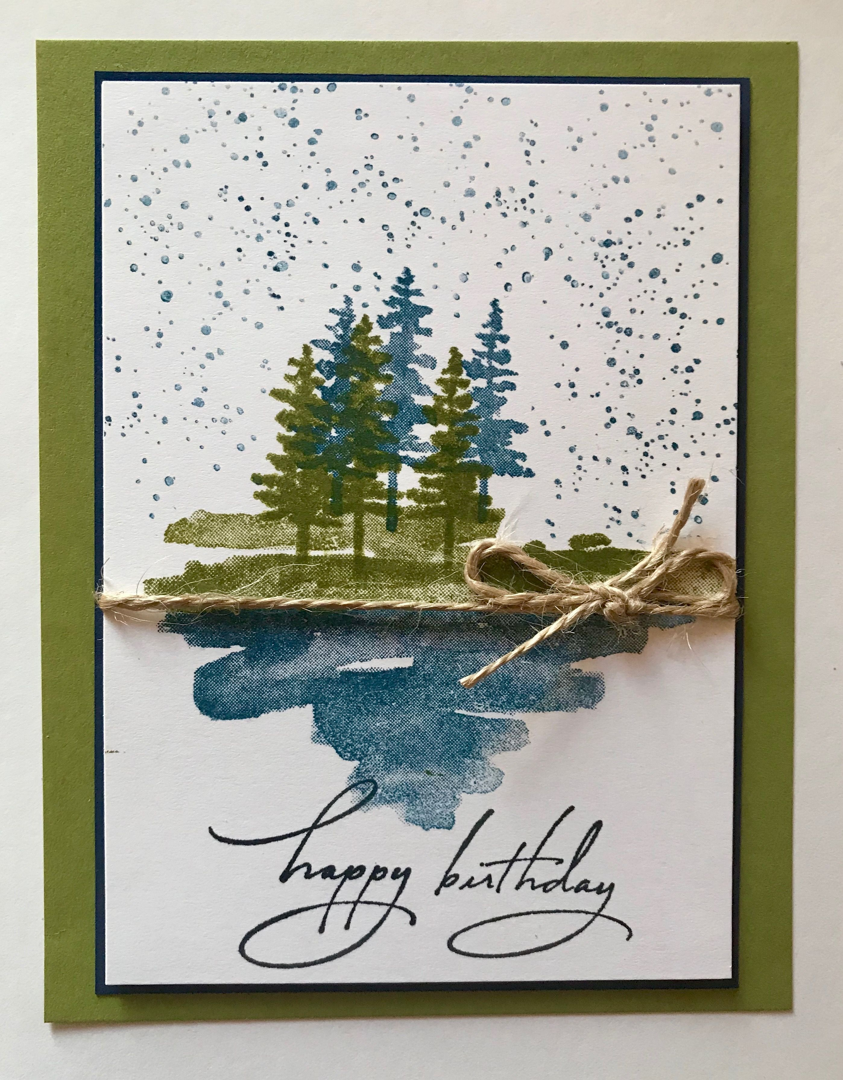 Stampin Up Waterfront Masculine Birthday Cards