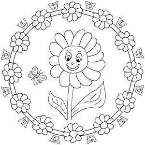 mandala malvorlage sonnenblume | mandala malvorlagen, malvorlagen und sonnenblumen