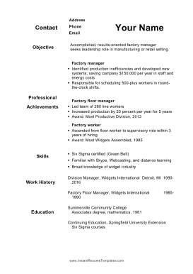 This Resume Is Ideal For Older Workers Who Are Reentering The Workforce Or Seeking A New Position Resume Cover Letter Template Resume Cover Letter For Resume