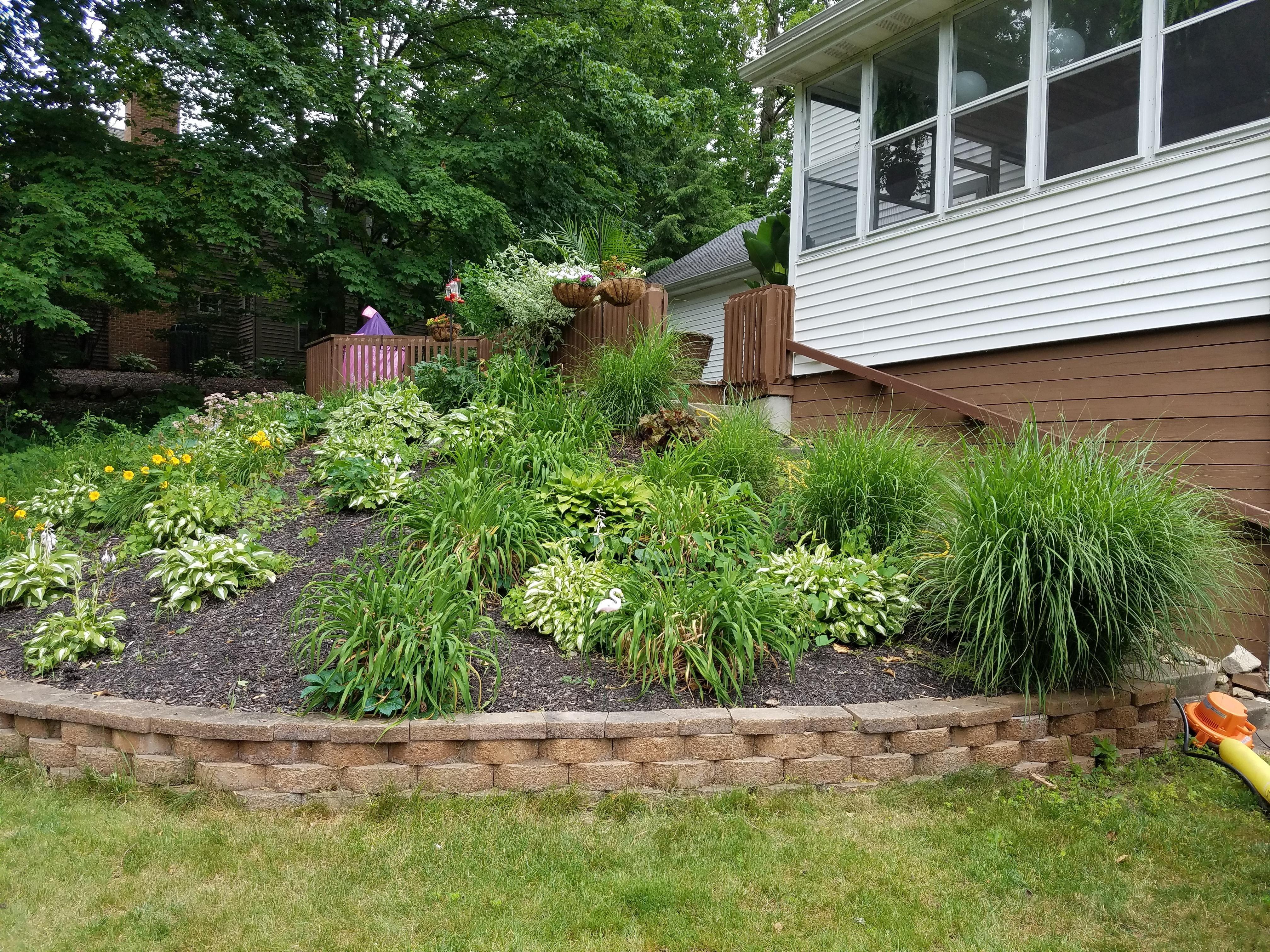 my backyard landscaping i had to wheelbarrow 6 cubic yards of