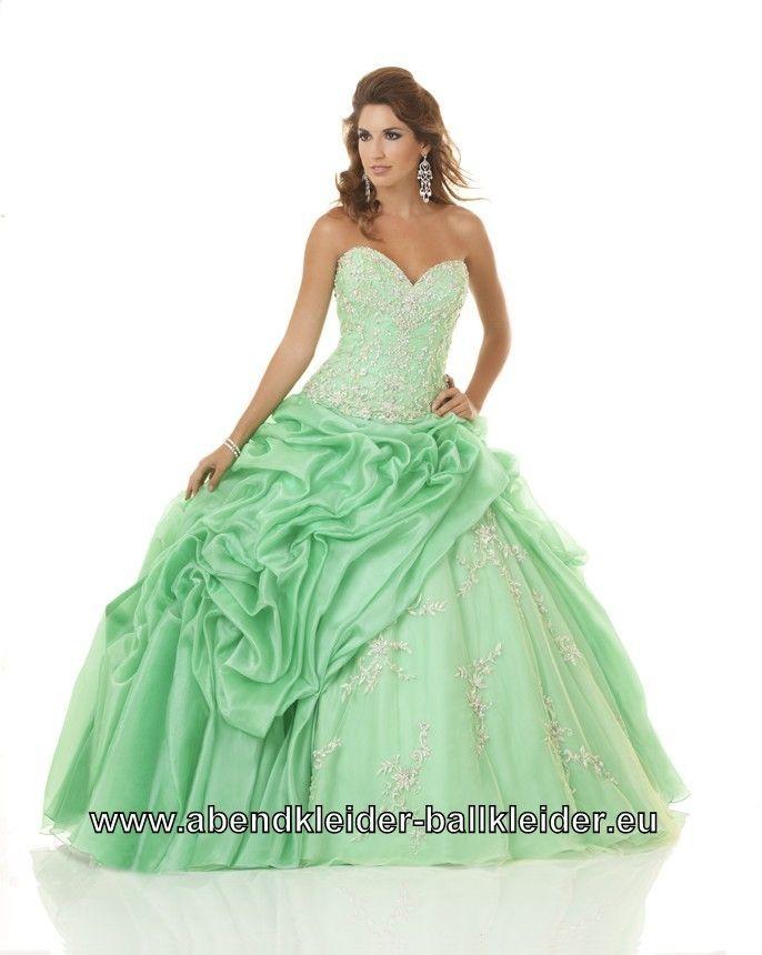 Apfel Grünes Abiball Kleid Brautkleid Abendkleid | Ballkleid