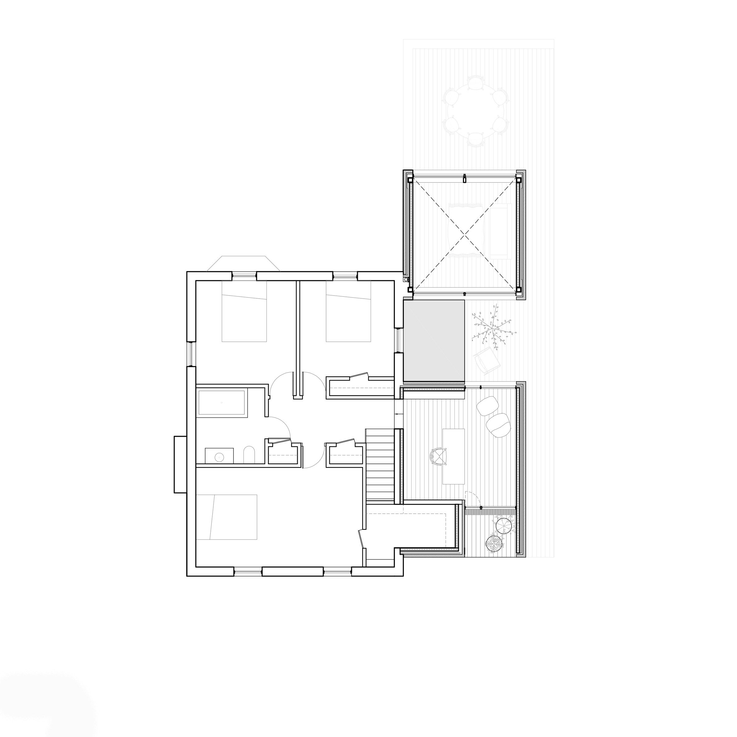 Atelier Pierre Thibault Extends Ageing Montreal Home With Double Height Living Space Floor Plans Living Spaces Home