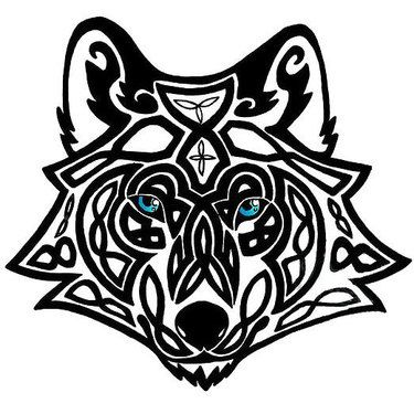 Celtic Wolf Head Tattoo Design Celtic Wolf Tattoo Wolf Tattoos Wolf Tattoo