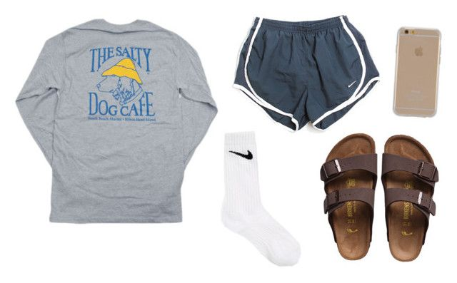 """"" by gretchencarr on Polyvore featuring Hanes, NIKE, Birkenstock and Agent 18"