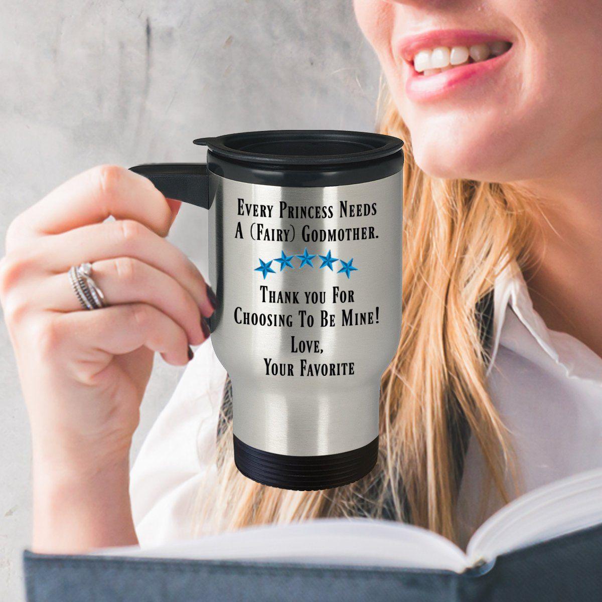 Fairy Godmother Travel Mug Godmother Presents Godmother Cup Thank