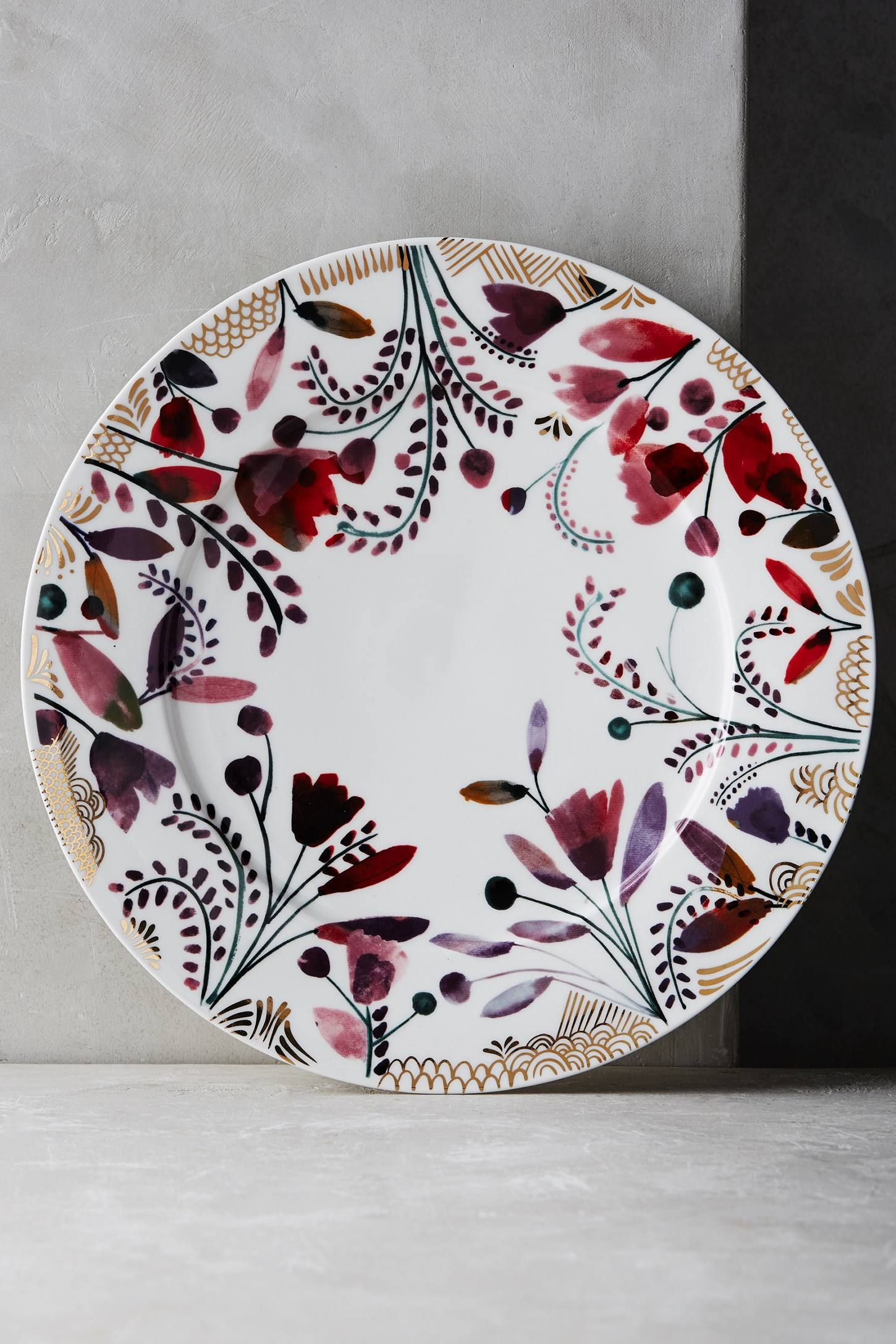 Harvest Foliage Dinner Plate Pottery Painting Designs Ceramic Cafe Pottery
