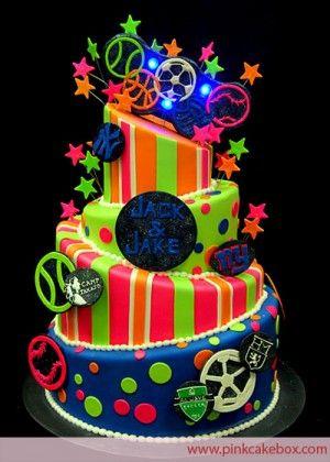 Mitzvah Inspire Go Bold With Neon Neon cakes Neon and Bat mitzvah