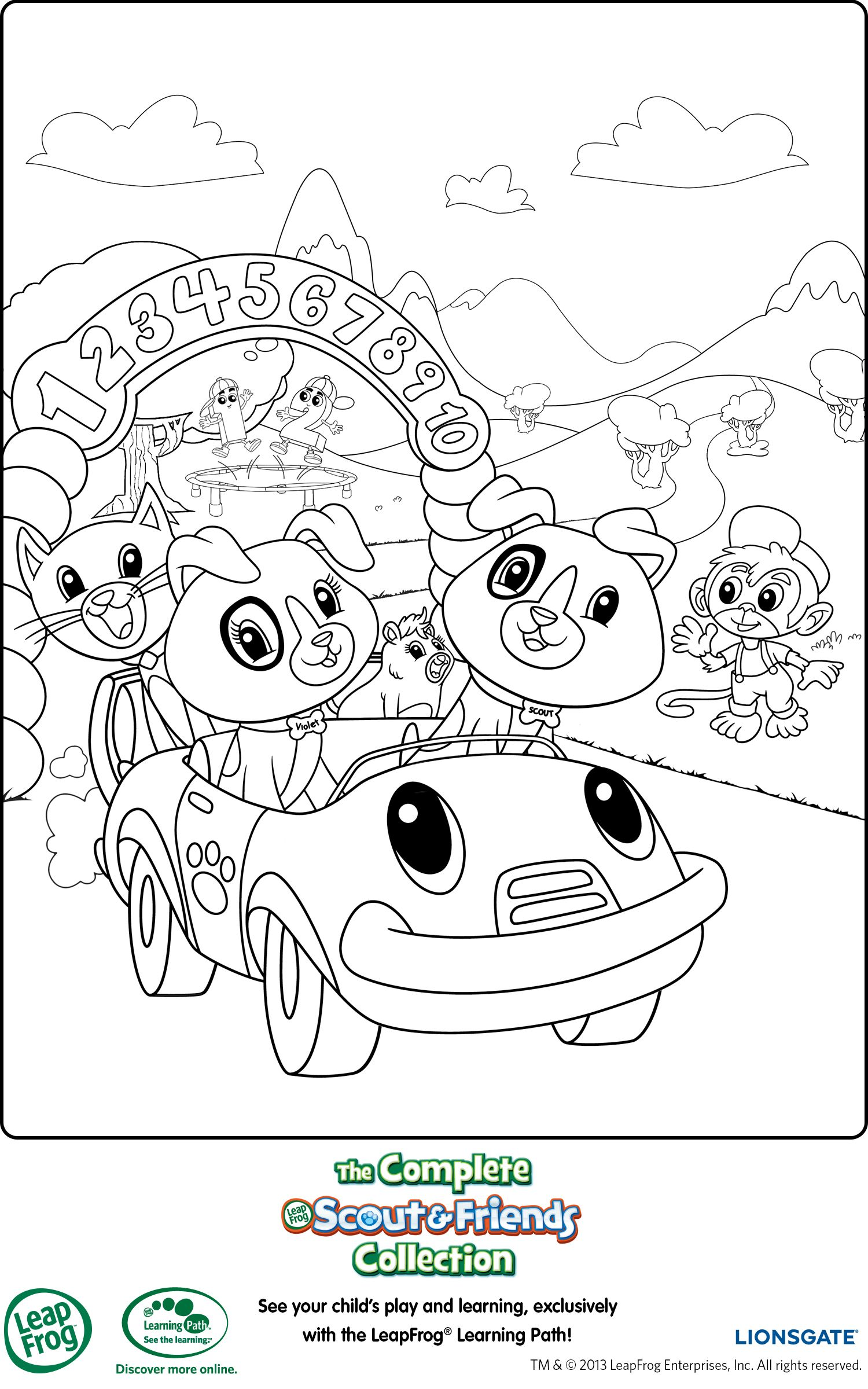 leapfrog printable coloring page - Leap Frog Coloring Pages