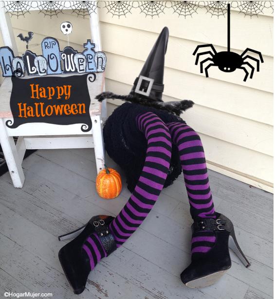 Divertida y super econmica para decorar la casa en Halloween usando