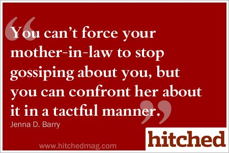how to confront mother in law