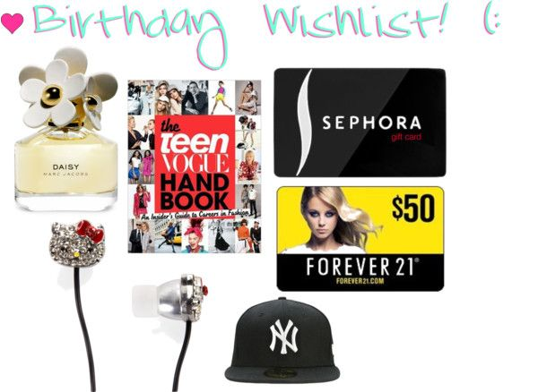 """Birthday Wishlist ! (:"" by fashionfearlessgirl ❤ liked on Polyvore"