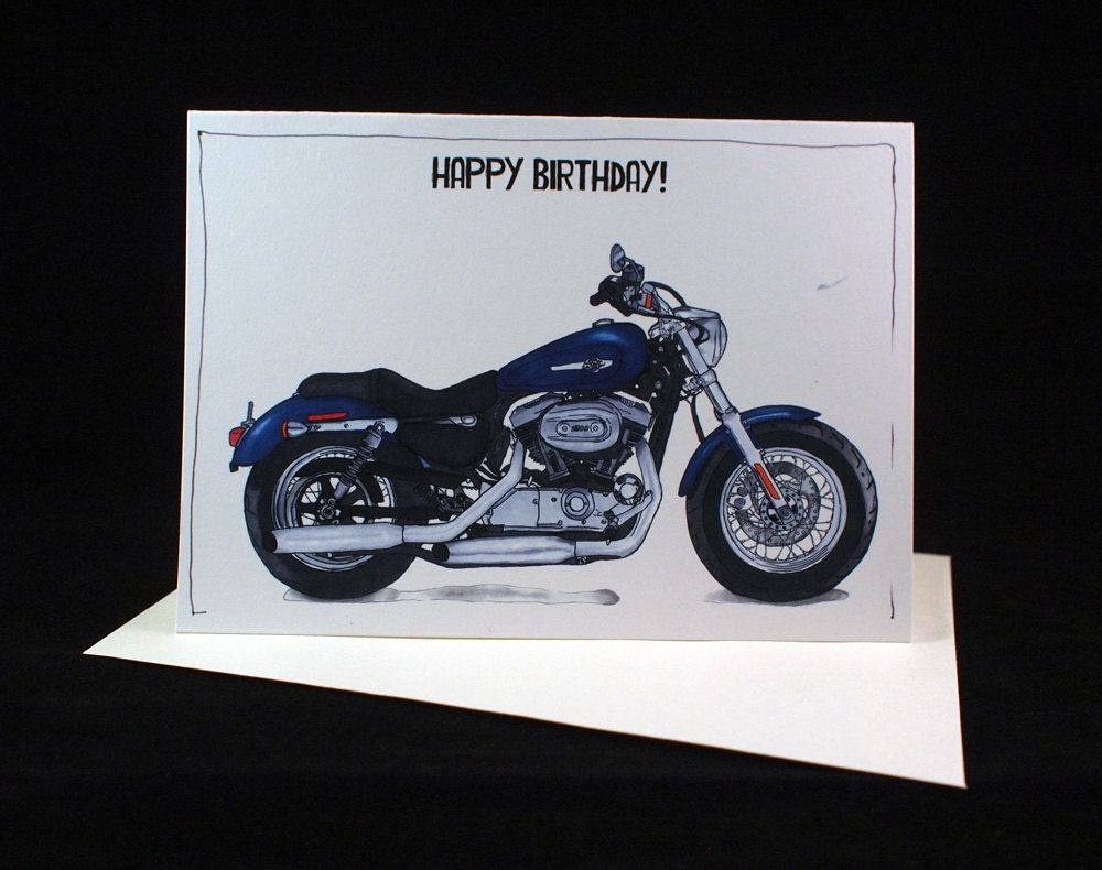 Motorcycle birthday card harley davidson sportster 1200 a6 6 motorcycle birthday card harley davidson sportster 1200 a6 6 x 4 103mm x 147mm motorbike gift card motorcycle gift card bookmarktalkfo Image collections