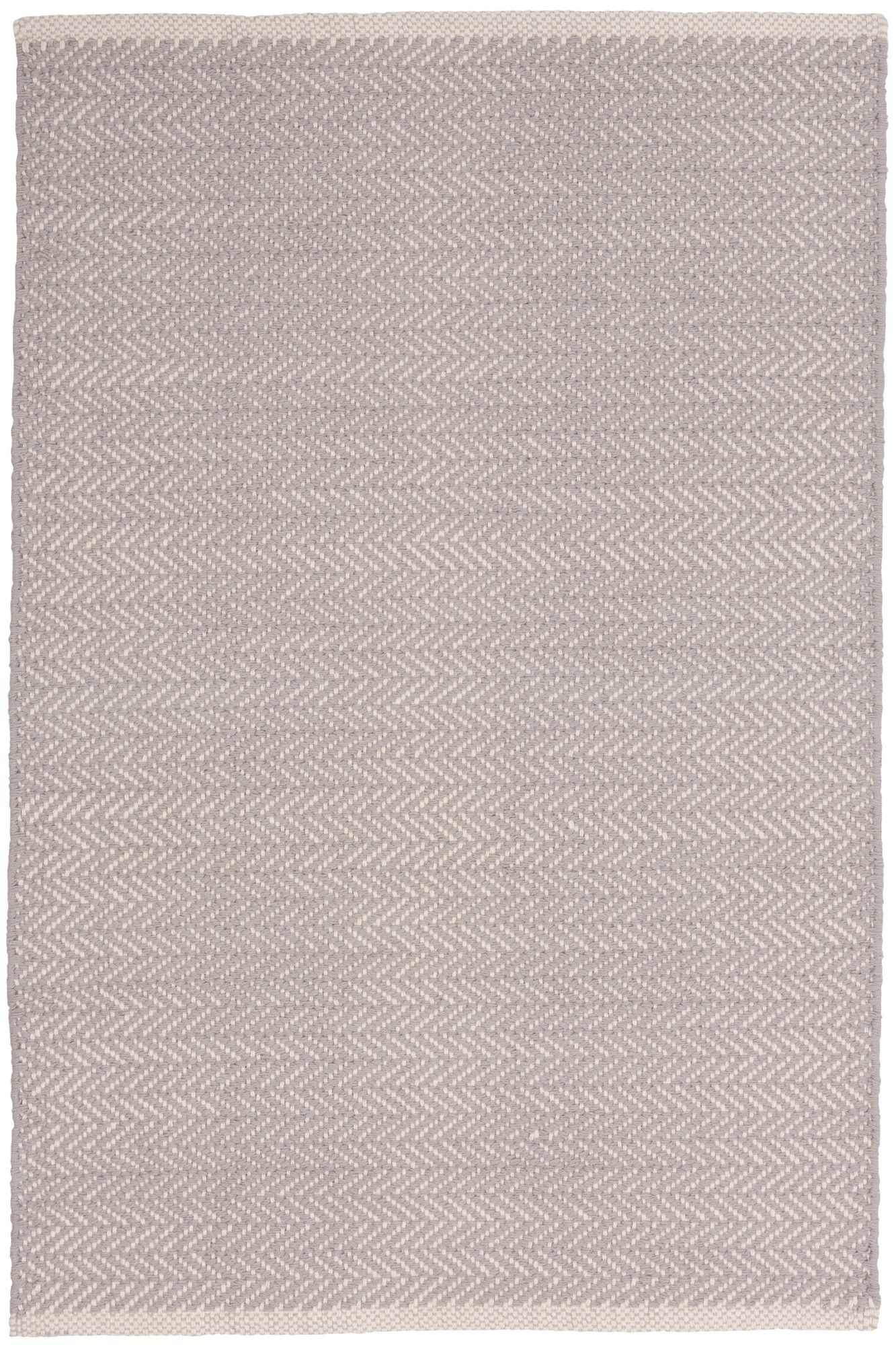 Dash And Albert Rugs Herringbone Woven Cotton Dove Grey Area Rug Reviews Wayfair